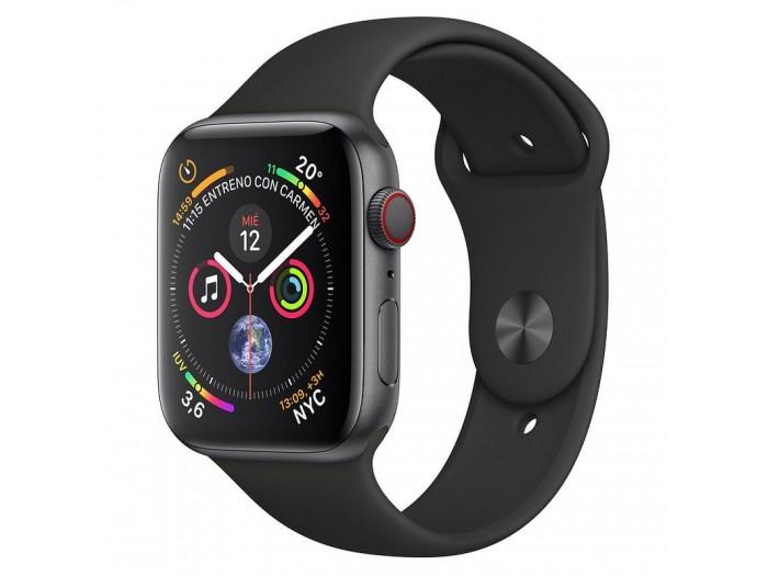 Apple Watch Series 4 GPS + Cellular 40mm Aluminio Gris Espacial con Correa Deportiva Negra