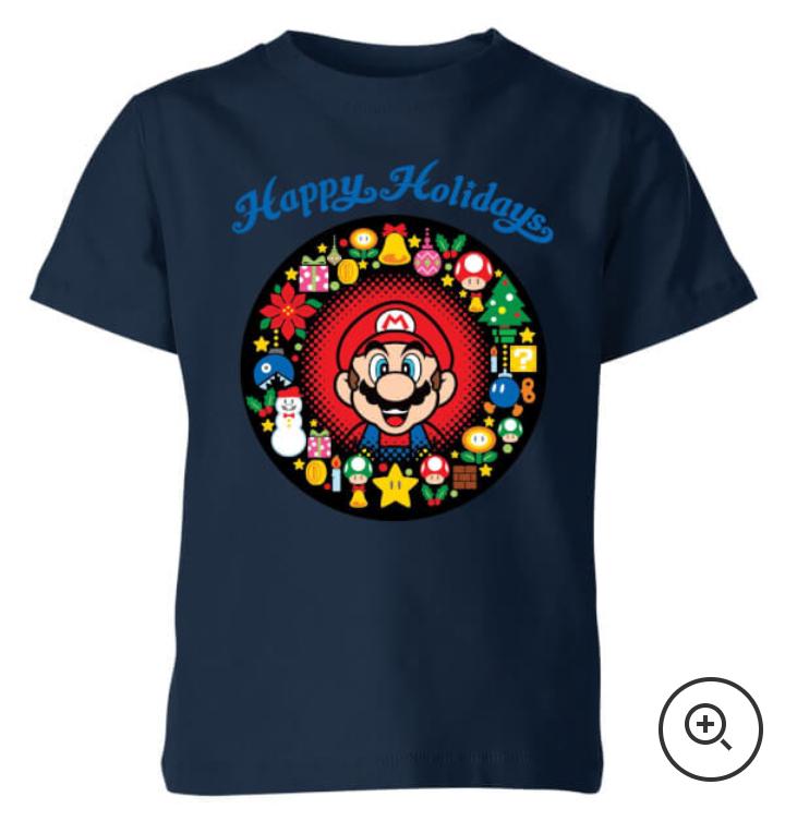 2 camisetas de niños por 12€ (Entre ellas navideñas de Nintendo y Super Mario!)