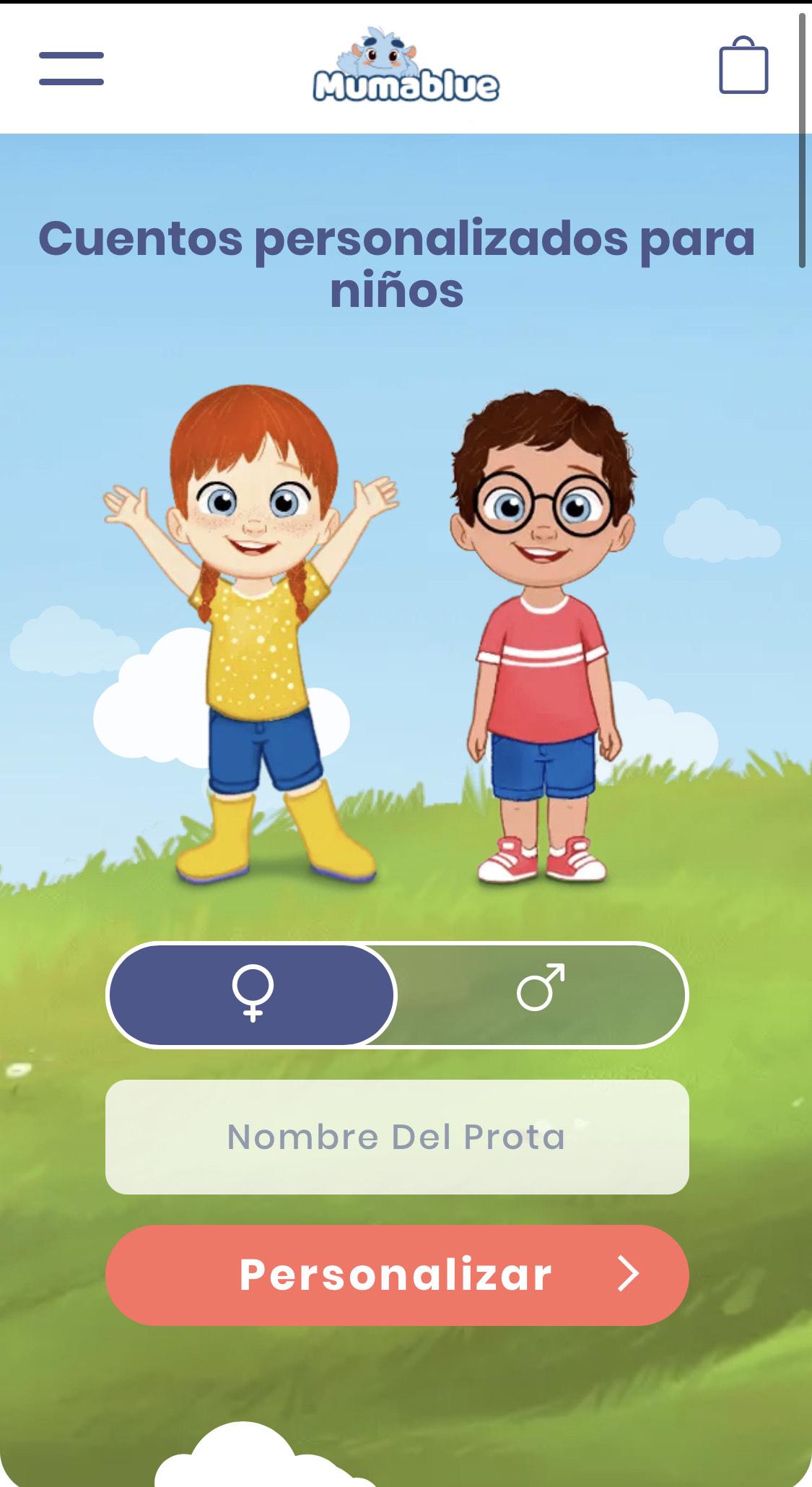 Mumablue - Cuentos personalizados para niños