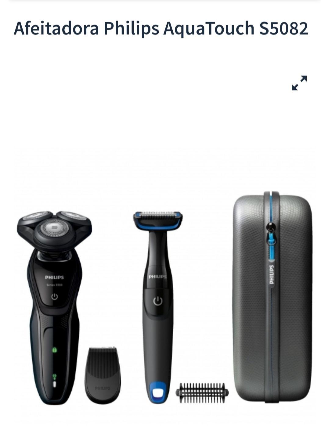 Afeitadora Philips AquaTouch S5082 + Bodygroom recortadora