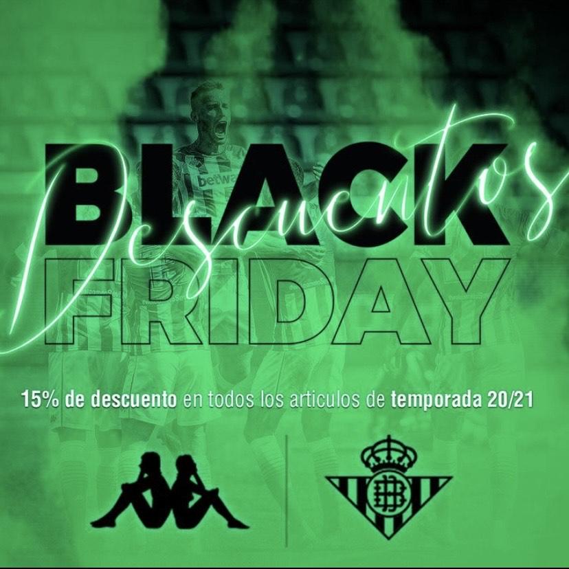 Black Friday BETIS!Descuento del 15% en artículos de la 20/21