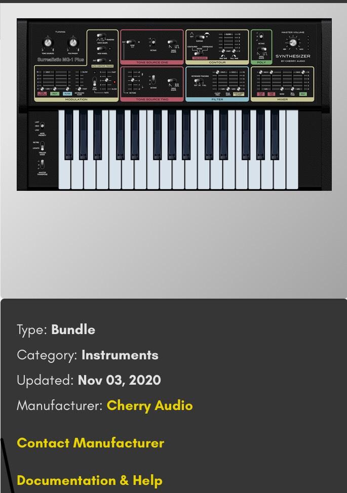 Cherry Audio Surrealistic MG-1 Plus Synthesizer