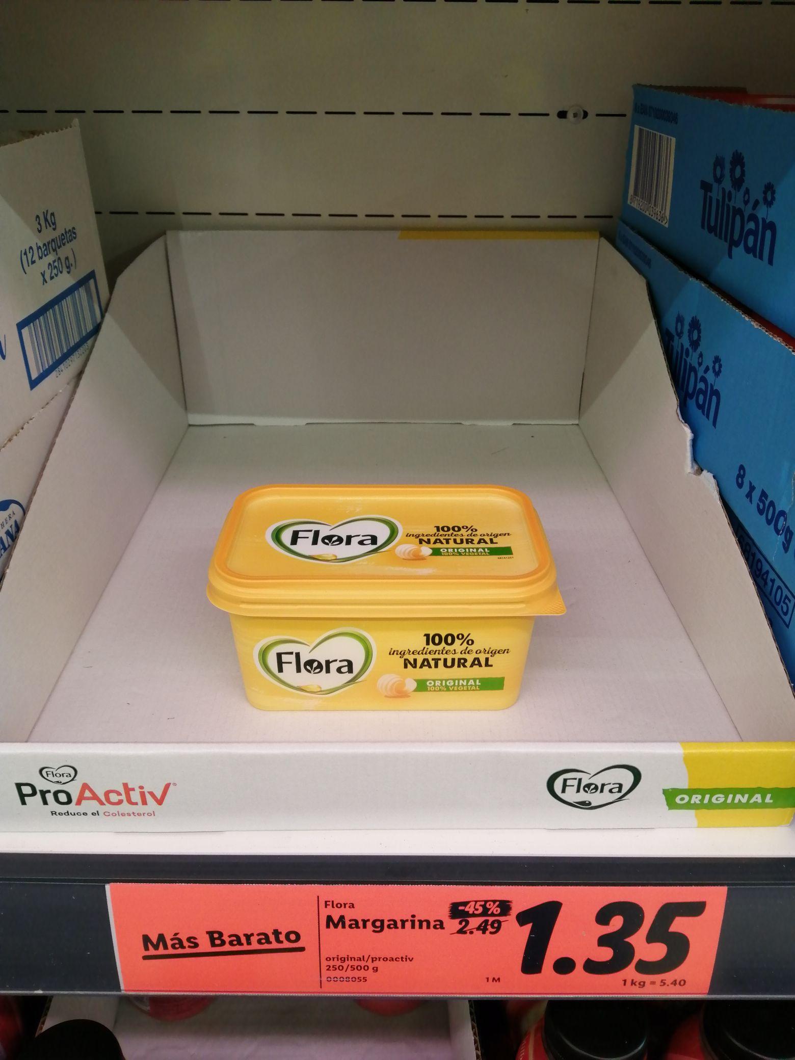 Margarina Flora 500 G Lidl Pinos Puente GRANADA