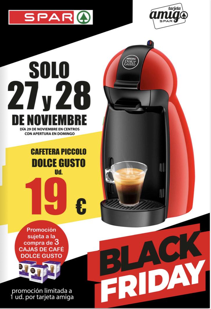 Cafetera Dolce Gusto con compra de 3 cajas de café | Spar Sureste