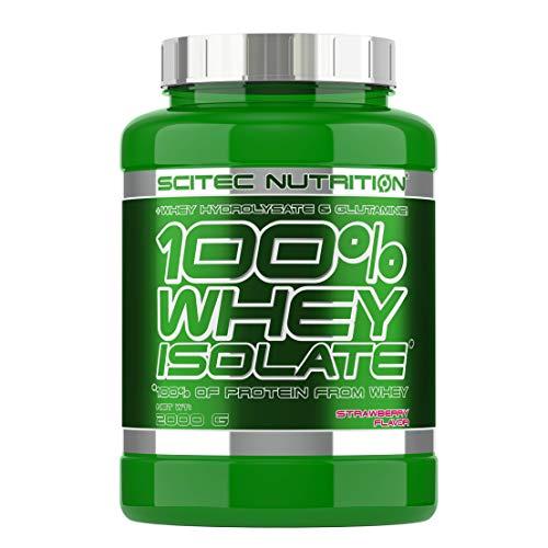 Scitec Nutrition 100% Whey Isolate Suplemento Nutricional de Proteinas con Sabor de Chocolate y Fresa - 2 kg