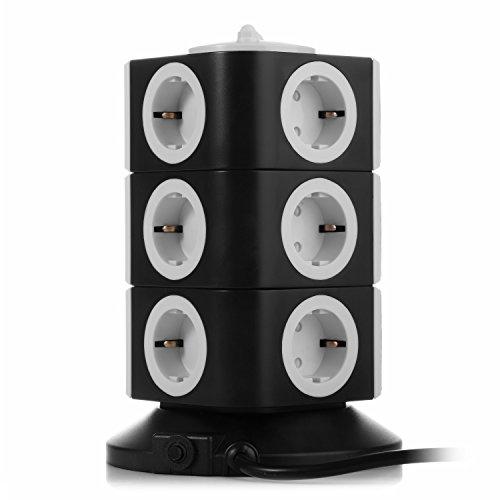 Regleta de Enchufes Vertical de 11 Tomas Corrientes y 2 Rapida USB 23.99 €