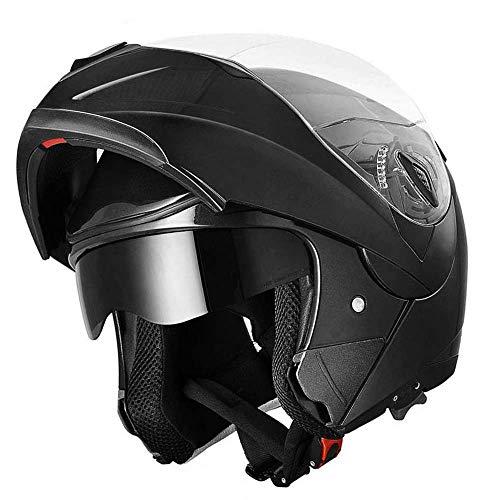 Westt Torque - Casco De Moto Modular Integral Negro Mate con Doble Visera - Motocicleta Scooter - Certificado ECE