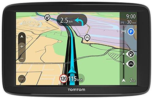 TomTom GPS para coche Start 62, 6 pulgadas, mapas de la UE, prueba gratuita de alerta de radares, soporte reversible integrado