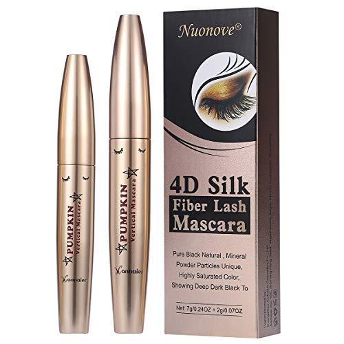 4D Silk Fiber Eyelash Mascara de Pestañas de Fibra de Seda, Larga duración, sin manchas