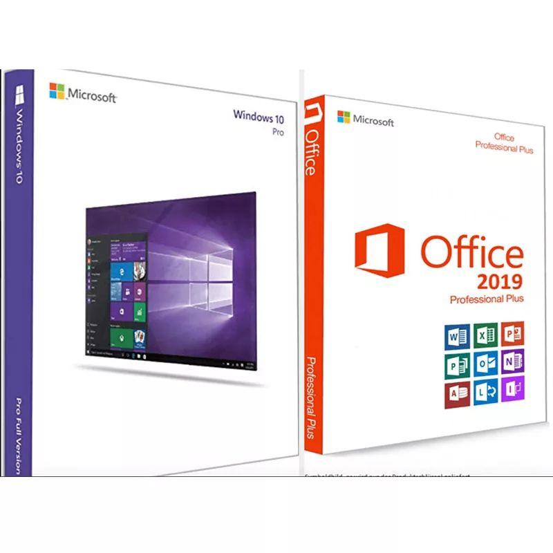 Windows 10 Pro Retail Key 32/64 bits + Office 2019, Microsoft