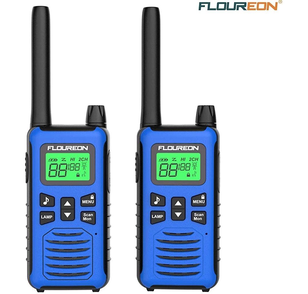 Walkies Talkies,Radio Bidireccional con 16 Canales,Pantalla LCD,rango de 3 Millas