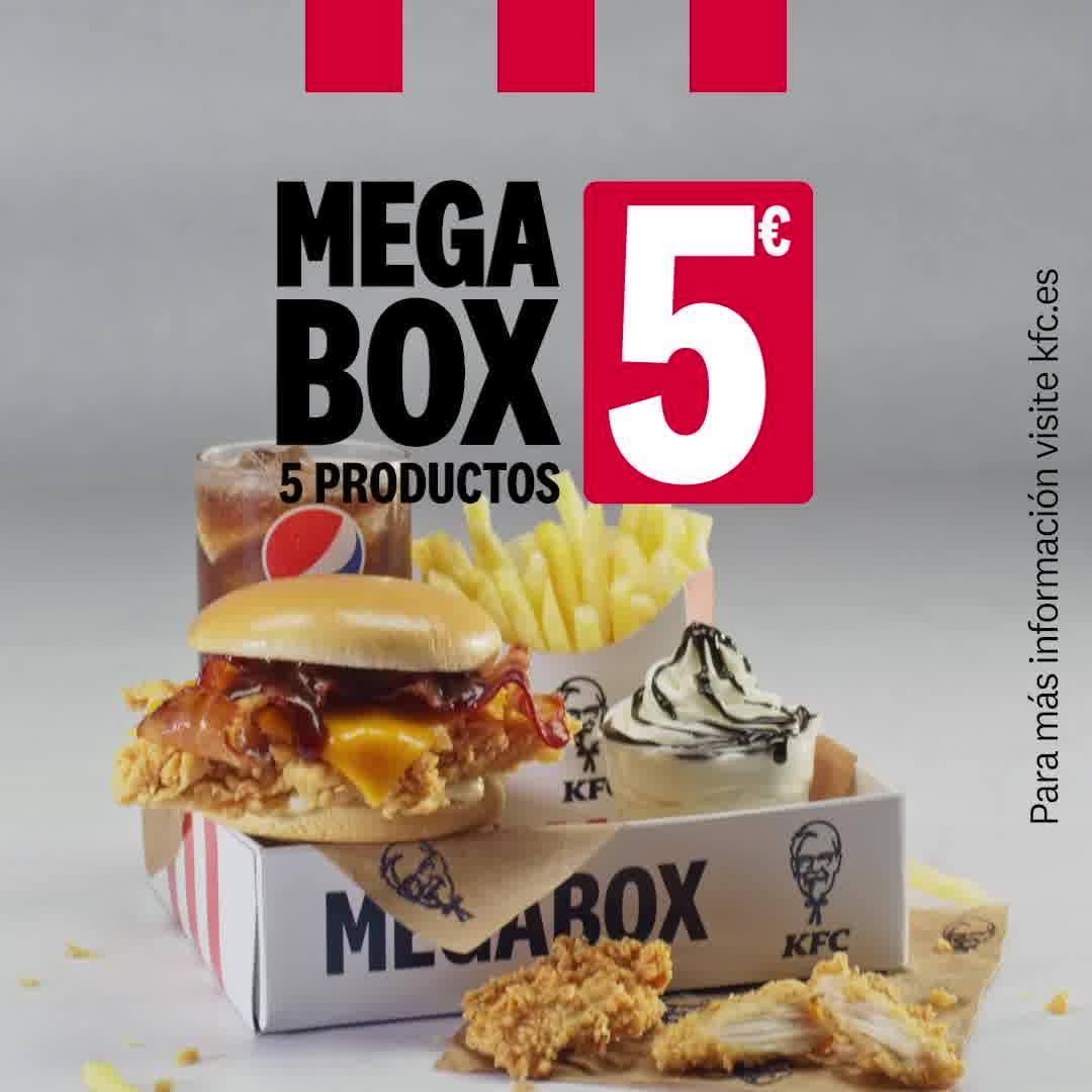 MEGABOX KFC: 5 productos por 5€