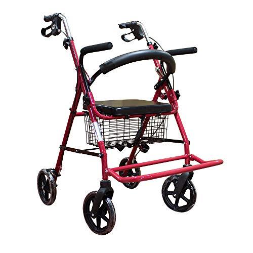 Mobiclinic, Modelo Colón, Andador y silla de ruedas para minusvalidos, ancianos, adultos o mayores, 2 en 1, de aluminio