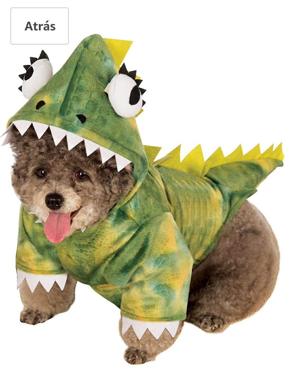 Disfraz Oficial de Dinosaurio T-Rex para Mascotas, tamaño Mediano
