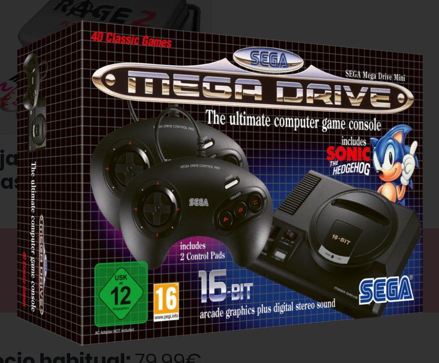 SEGA Mega Drive Mini + 2 Regalos + 2748 puntos