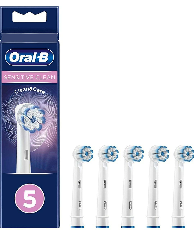 Braun Oral-B 4210201316947 Sensitive Clean - Cabezales para cepillo de dientes eléctrico (tecnología de cerdas ultrafinas, 5 unidades)