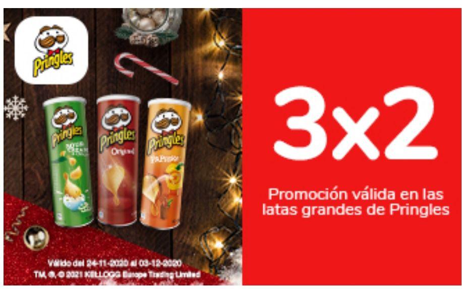 3x2 en Pringles 200 g./ Rice Fusion 160 g.