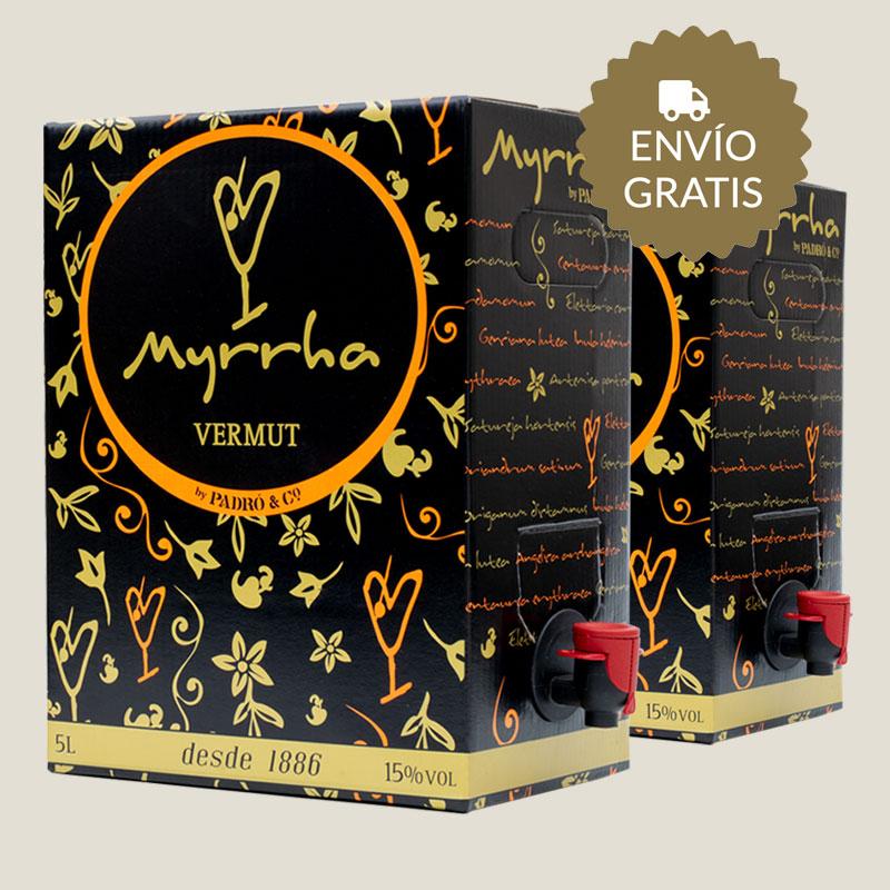 10 litros de Vermut Myrrha de las bodegas Padró con envío gratis.