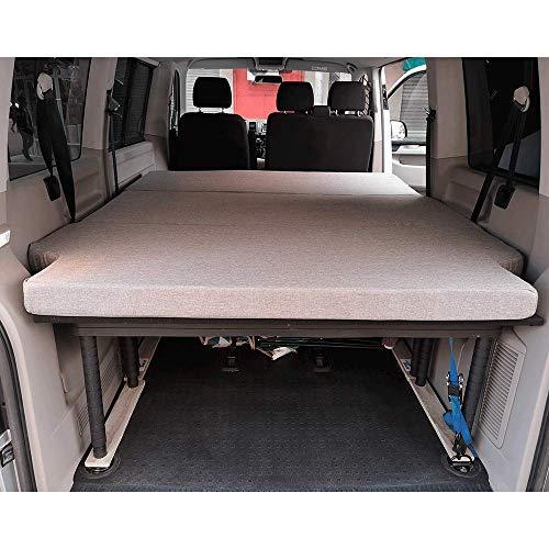 Reacondicionado COMO NUEVO KFoam.es Colchón Plegable para Volkswagen T5, T6, Multivan, California Beach y Caravelle 185x148x8 cm