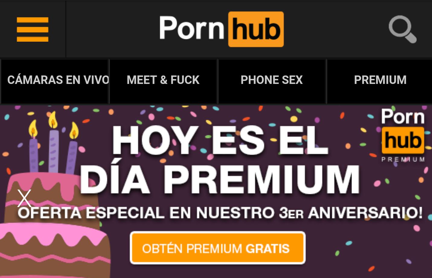 PORNHUB: 1 mes gratis de cuenta Premium