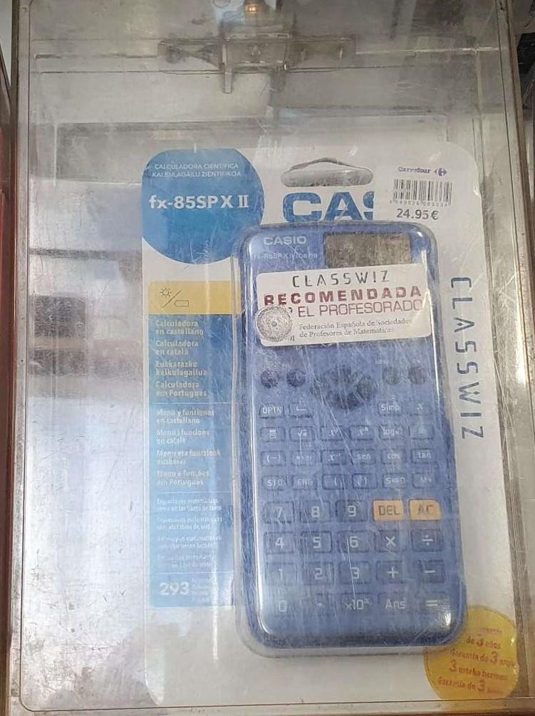 50% Calculadoras Casio Fx-570SP X II, Fx 85spxii y Fx 82spxii también al 50% del PVP (coincide con Amazon)