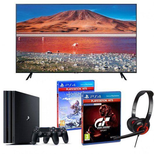 "Pack Jugón TV Samsung 50"" UltraHD 4K + PS4 Pro 1TB + GT Sport + Horizon Zero Dawn + Auricular Indeca (POCAS UNIDADES)"