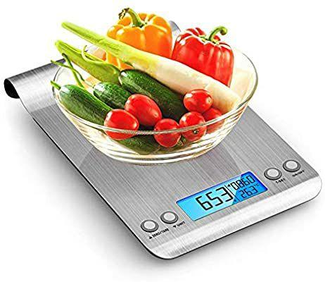 Báscula Digital para Cocina de Acero Inoxidable, 5KG
