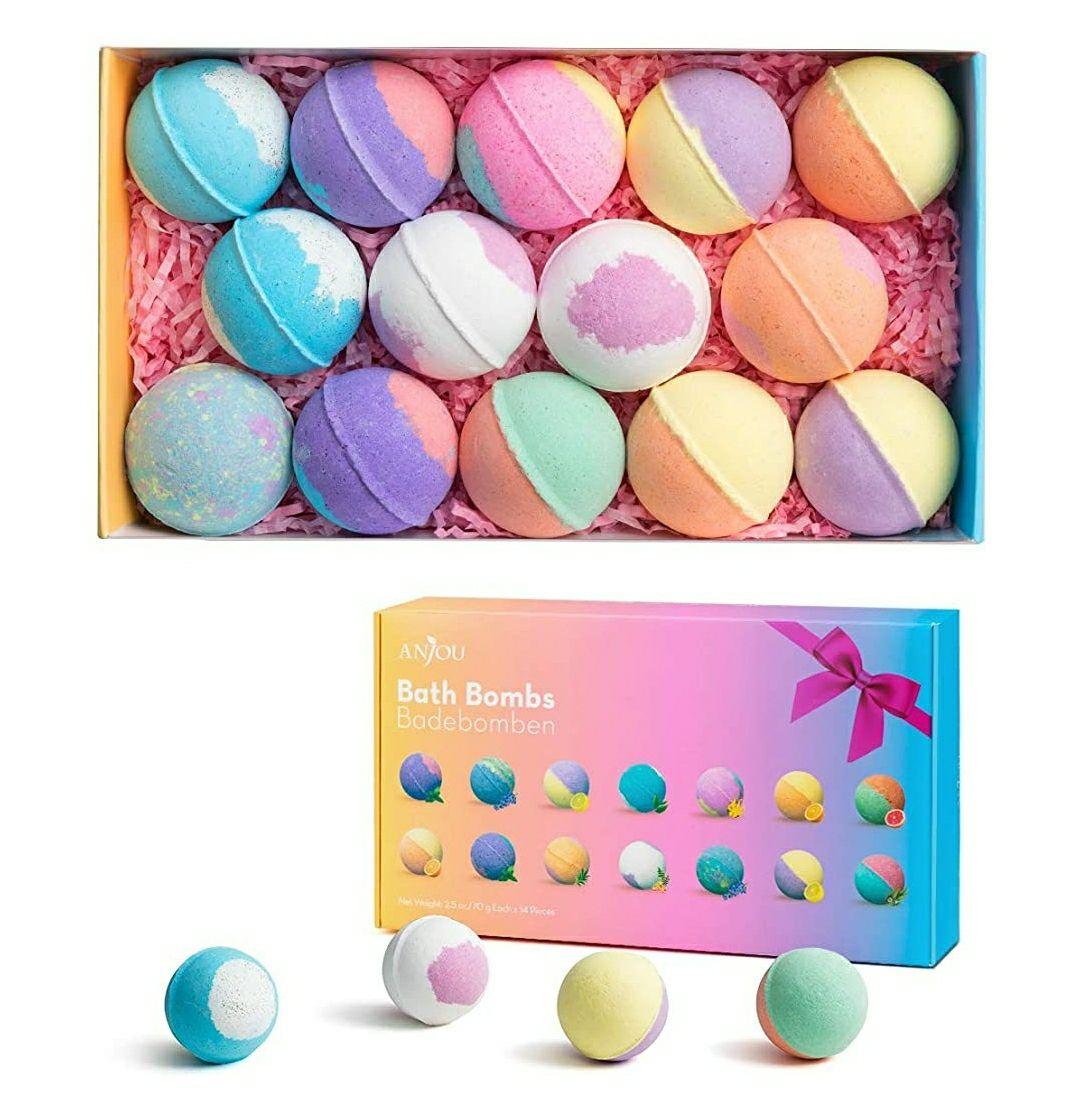 14 bolas de baño Spa, de colores, con aromas y aceites esenciales