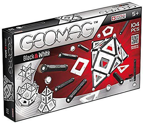 Geomag Black & White Panels, 104 piezas
