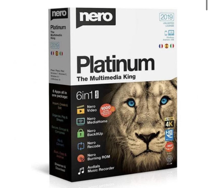 Nero Platinum 2019 PC/DVD