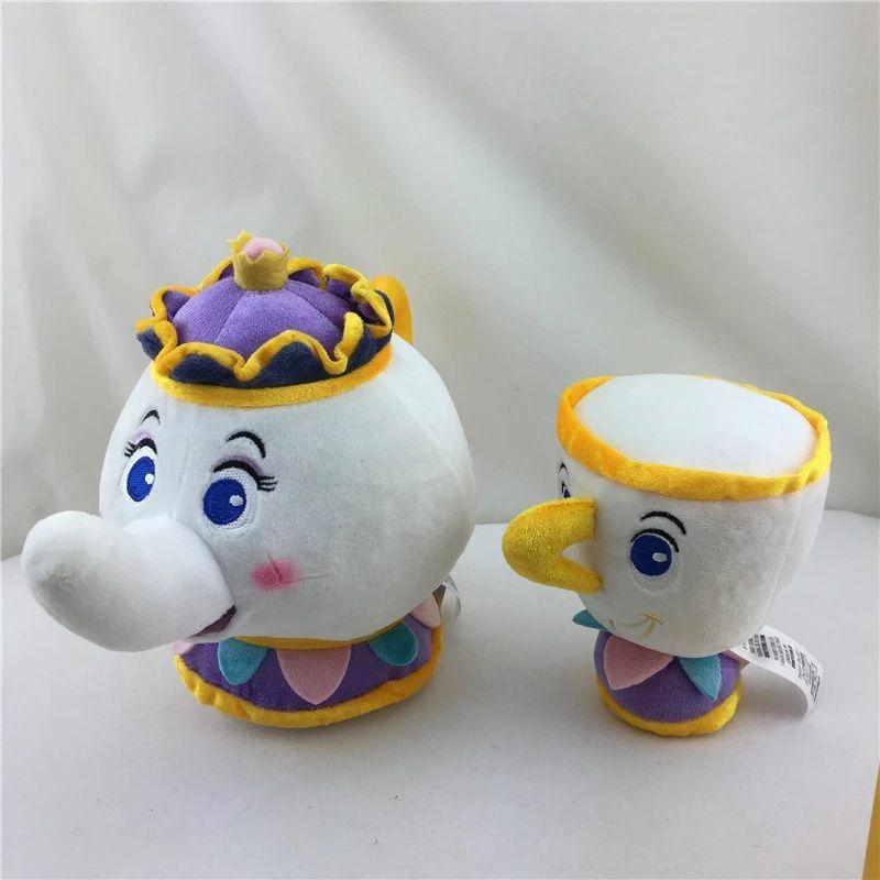 Señorita Pot y taza Chip de peluche.