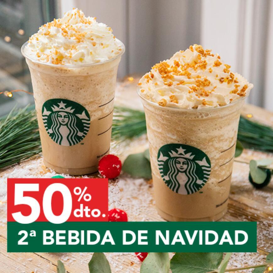 50% de descuento en tu 2ª bebida de Navidad de Starbucks