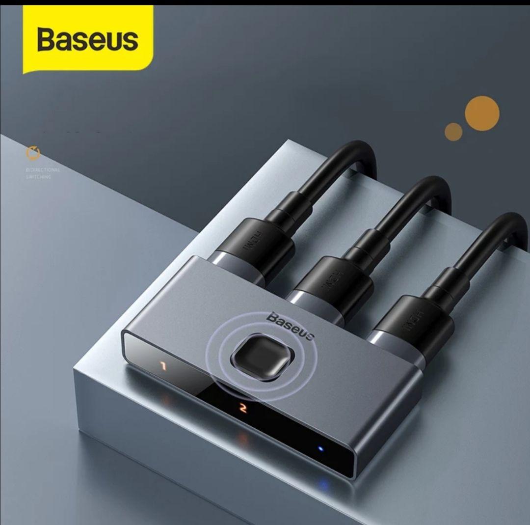 Baseus-Adaptador de Audio HDMI, conmutador HDMI HDR 4K 60Hz bidireccional