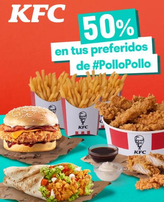 50% de descuento en menús KFC con Deliveroo