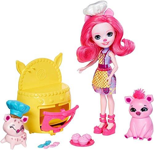 Enchantimals Fiesta pastelera, muñeca con accesorios (Mattel)