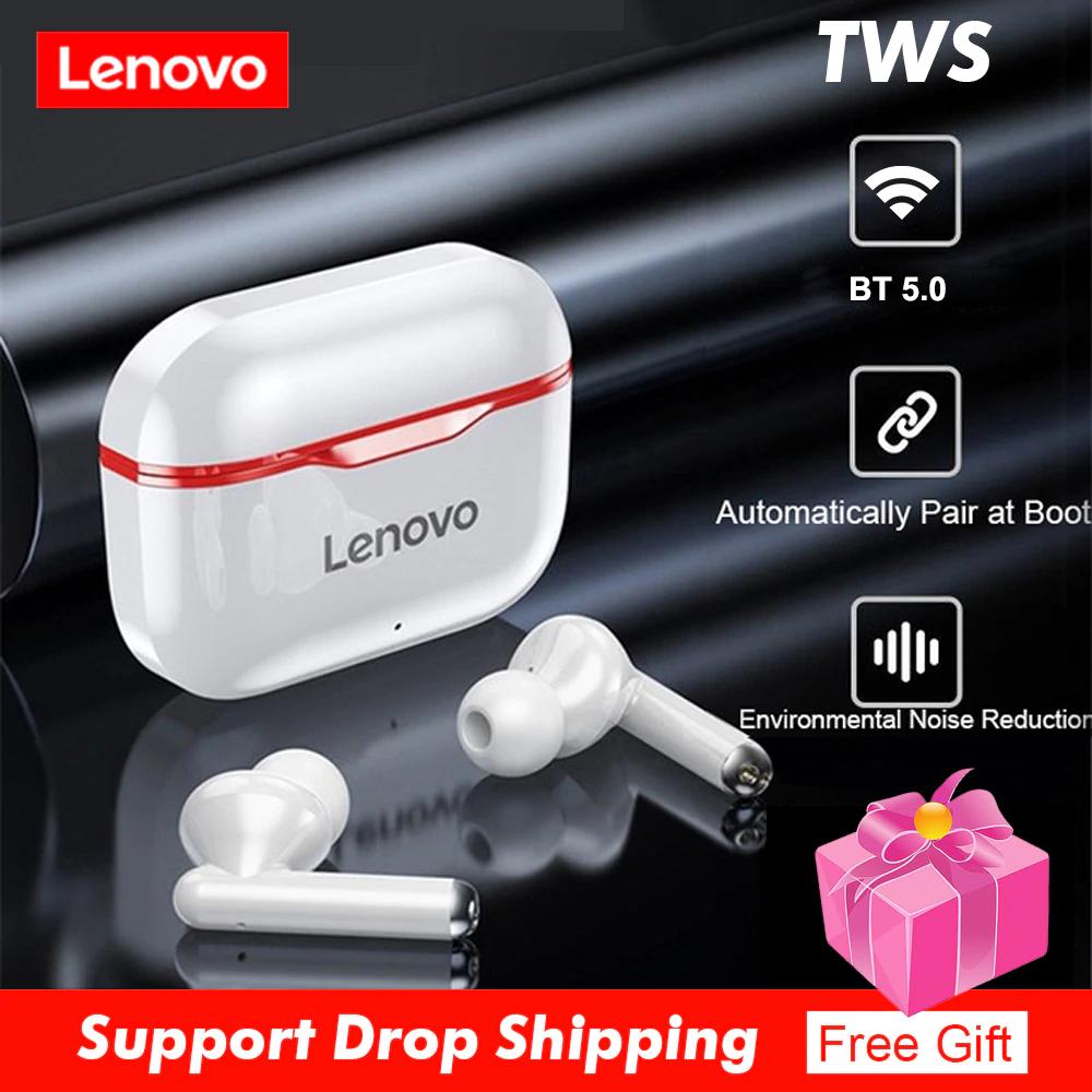 Lenovo-auriculares inalámbricos LP1 TWS con Bluetooth 5,0