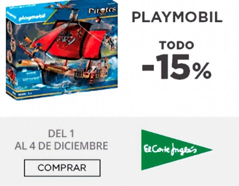 Todo los PLAYMOBIL mínimo un 15% de descuento. Barco Pirata Calavera sale a 50,99€ (Dto 42%) - Coche Regreso Al Futuro 38 €