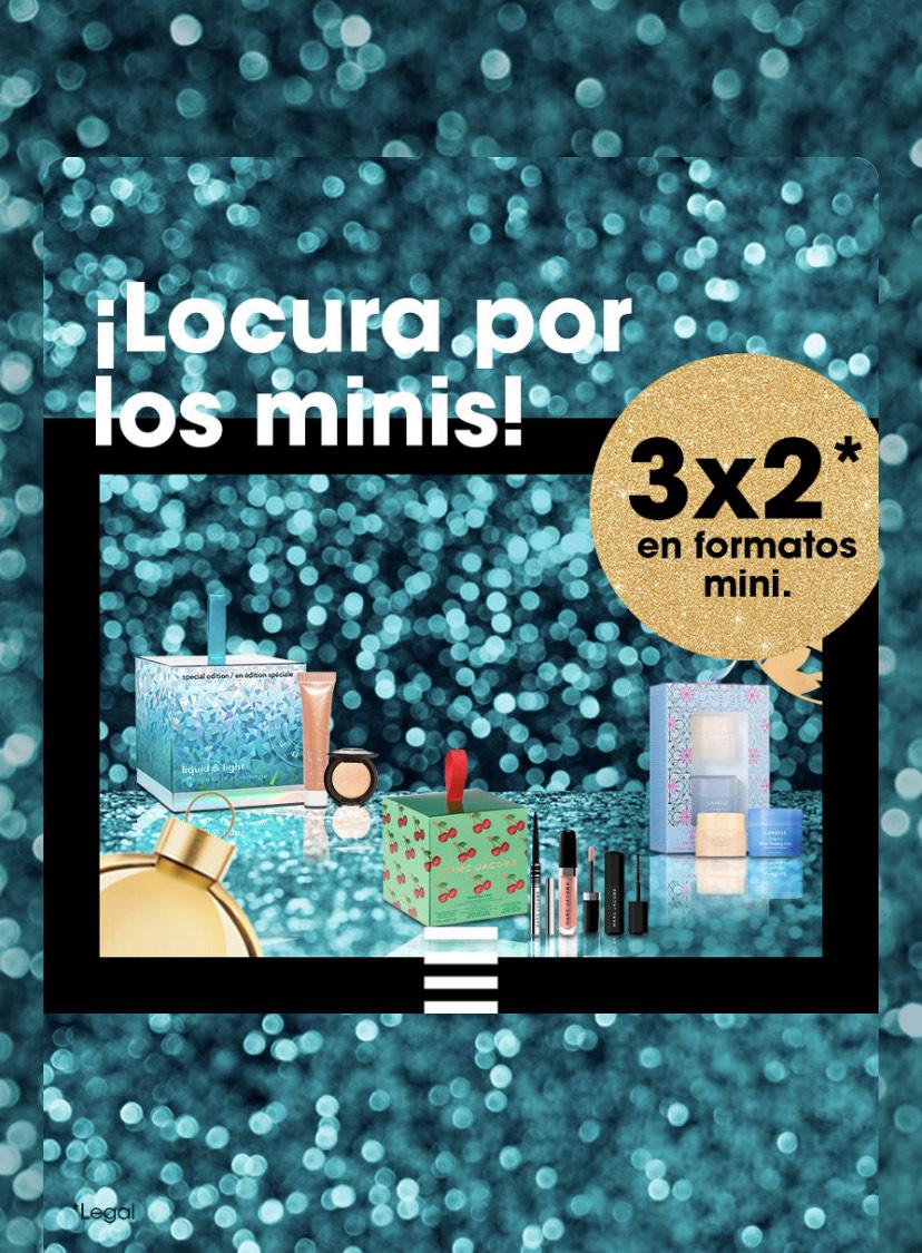 3x2 en formato mini/viaje en Sephora