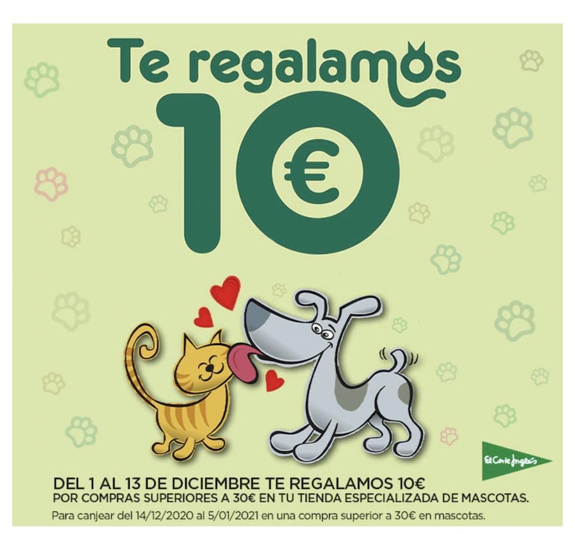 Te reglamos 10€ por compras superiores a 30€ en mascotas
