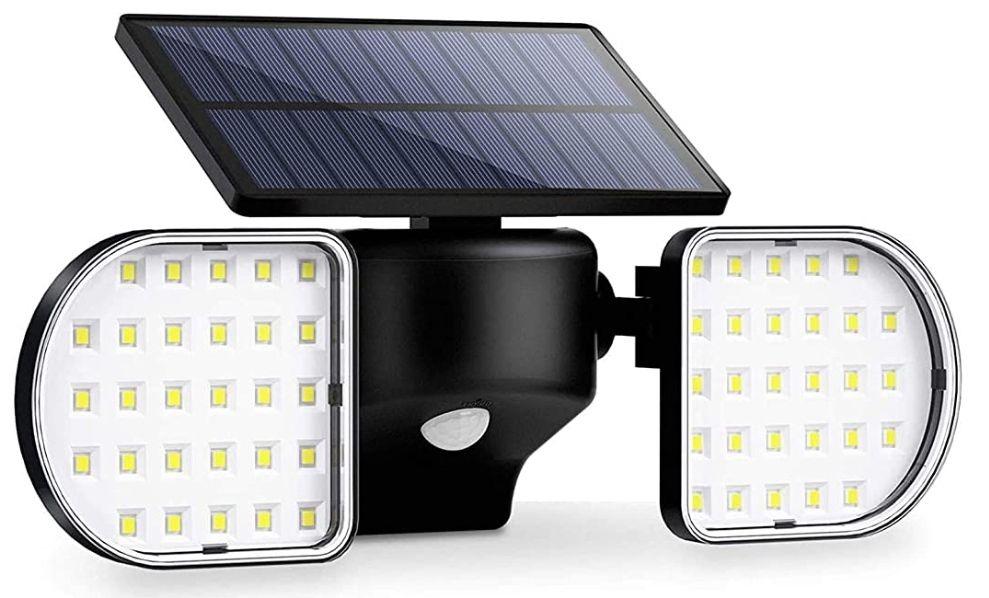 Foco Solar Exterior 56 led con sensor de movimiento,IP65 360 °(baja el precio)