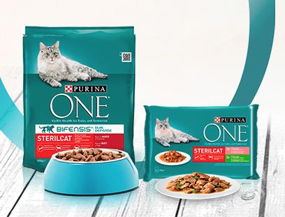 Muestra Purina One para gatos