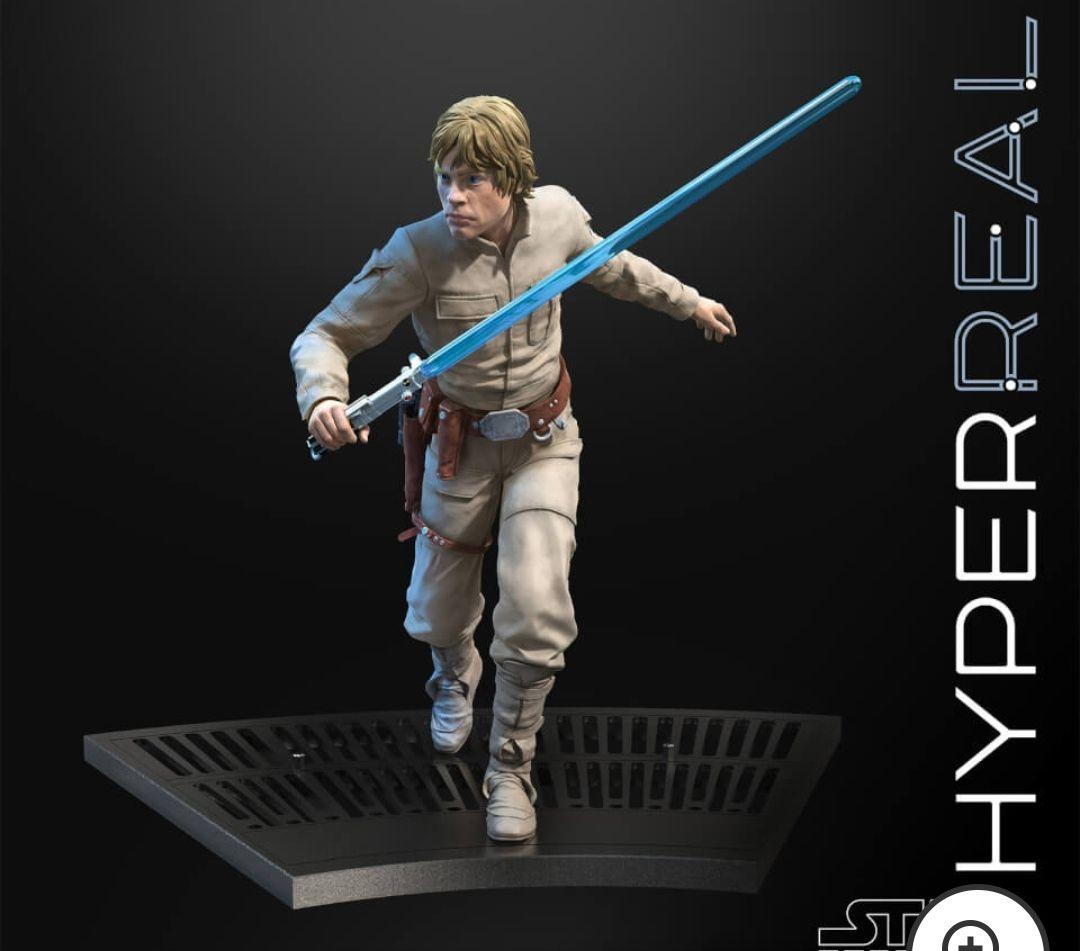 Figura de acción Luke Skywalker - Star Wars The Black Series Hyperreal