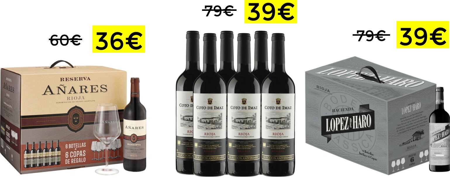 Preciazos en packs de vinos en El Corte Inglés