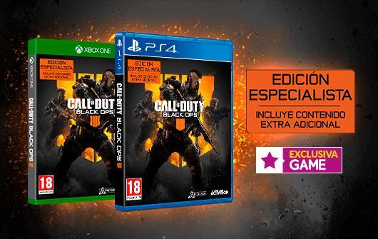 Call Of Duty Black Ops 4 - Edición Especialista PS4-XBOX ONE
