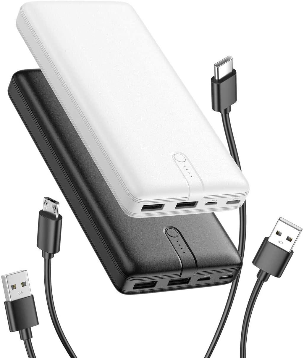 """2X Powerbanks 20000mAh"""" 2 USB solo 19.9€"""