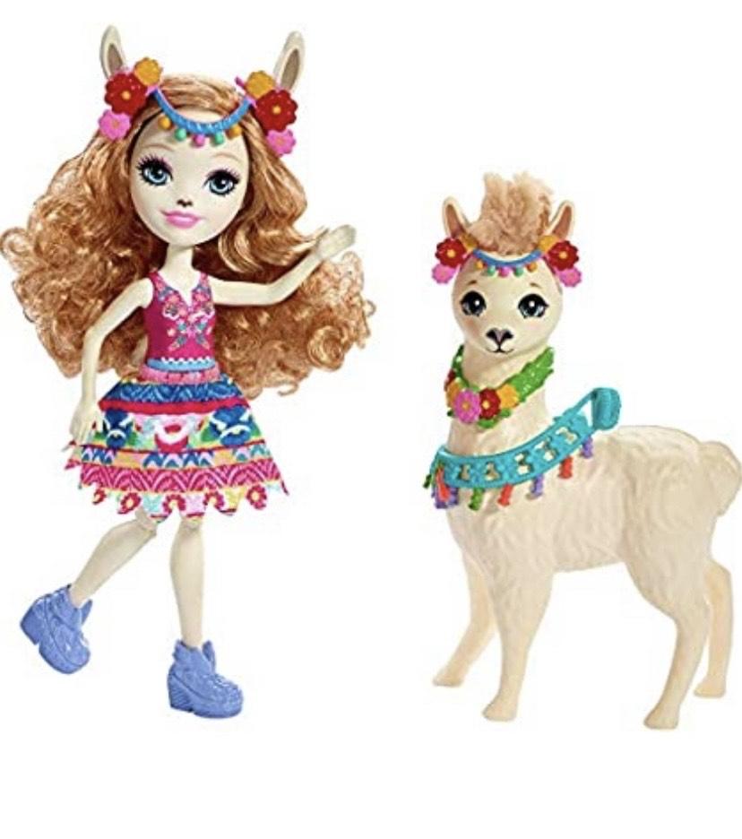 Enchantimals - Luella Llama y Fleecy, muñeca con mascota