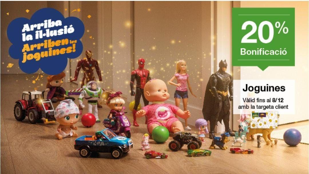 20% Bonificación tarjeta cliente en juguetes