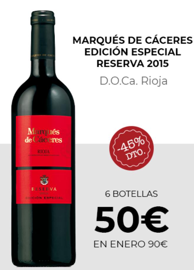 Marqués de Cáceres edicion especial reserva 2015 ( pack de 6)