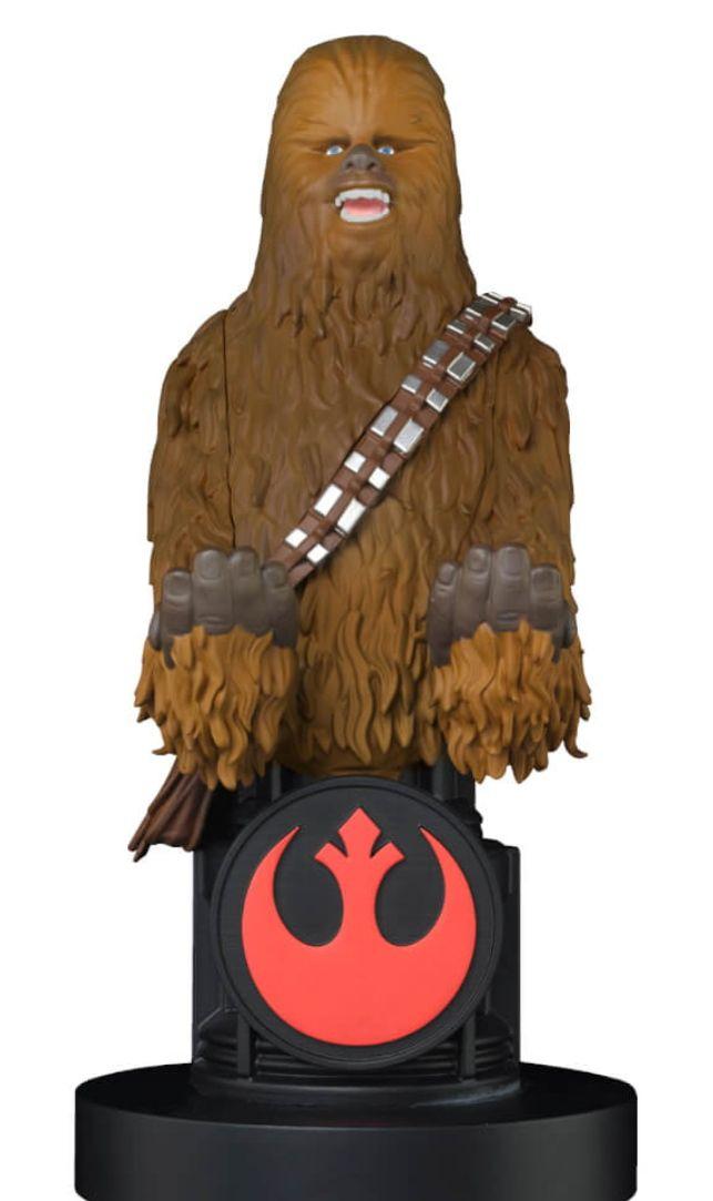 Cable Guy Soporte Mando o Móvil Star Wars Chewbacca o Boba Fett (20 cm)