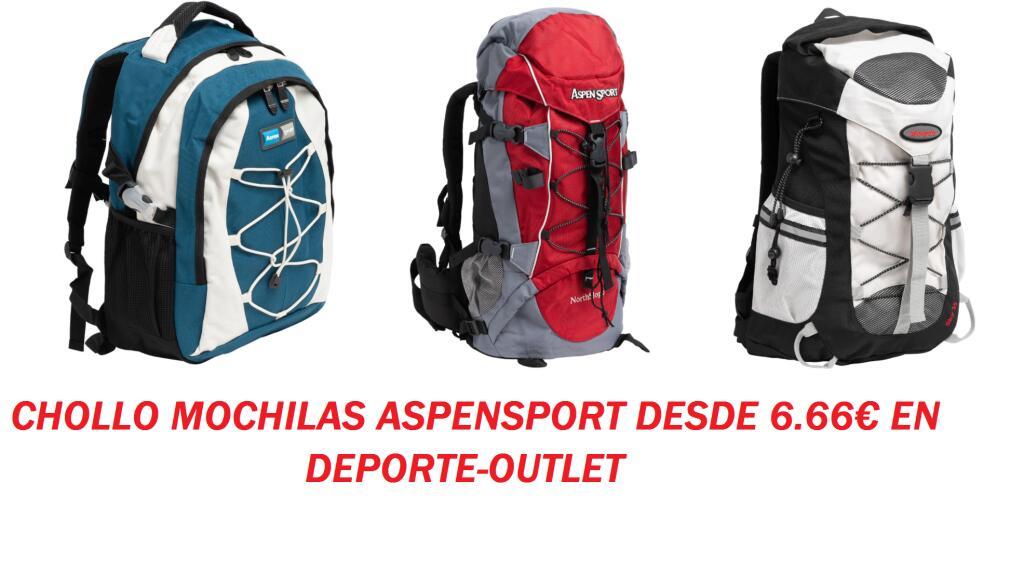 11 CHOLLO MOCHILAS AspenSport en Deporte-Outlet (Desde 6.66€/Unidad)